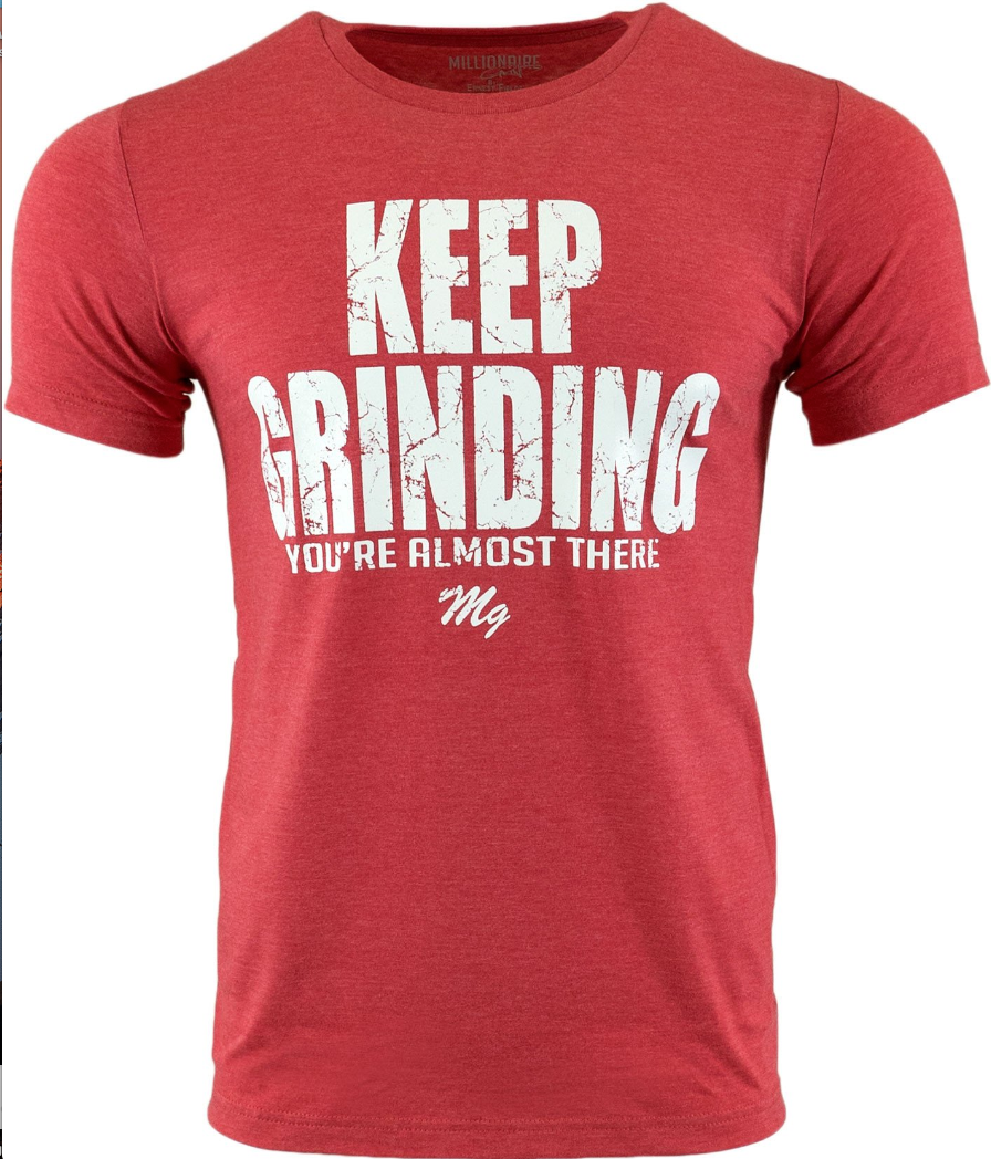 Millionaire Grind - Keep Grinding Tee (Royal / Red)
