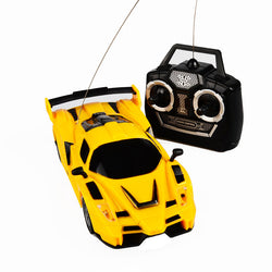 A race car which many people like.  (3CH BOHS Kids Radio Control Orange Yellow  Remote Control RC Racing Racer Drift Sport Car Toy,19cm)
