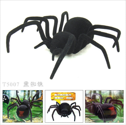 Remote Control Pet Black Widow Spider Spoof Joke