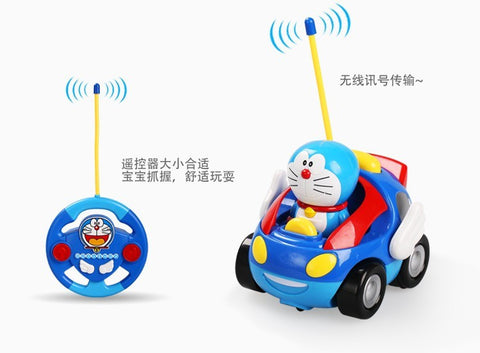 Look at this cute little thing.  It is popular for little kids including girls.   (Hot sale Toy RC Hello Kitty Remote Control Car Pink kt Doraemon Electric With Music Light Cute brinquedos Children birthday Gift)