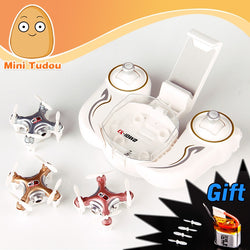 Very cute little palm sized drones.  AND this little guy even has a camera.(Minitudou RC Mini Drone With CAMERA Cheerson CX-10WD CX-10WD-TX Quadrocopter FPV Wifi Remote Control Helicopter)