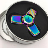 Here's a very pretty and colorful alloy metal spinner that will keep you entertained and occupied very nicely.