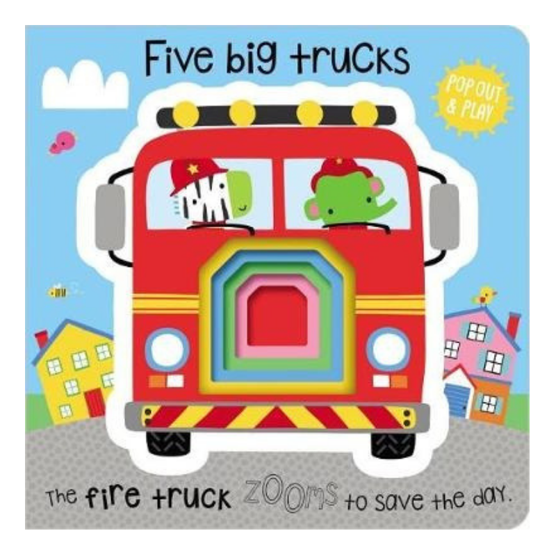 Libro Five Big Trucks - babycentro-com - Make Believe Ideas