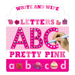 Libro Write and Wipe Pretty Pink ABC - babycentro-com - Make Believe Ideas