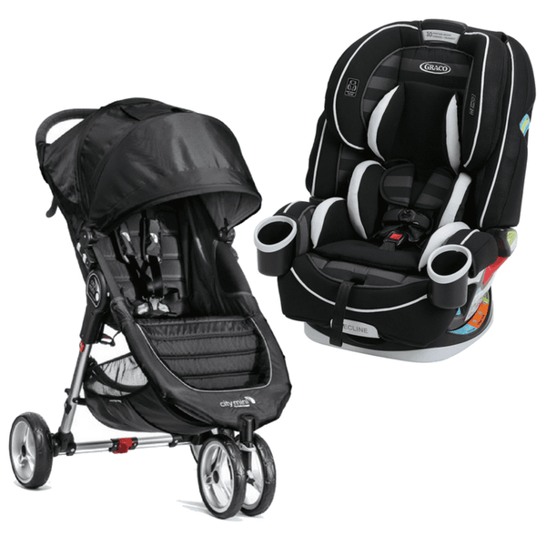 Combo Baby Jogger City Mini Negro + Silla Graco 4 Ever