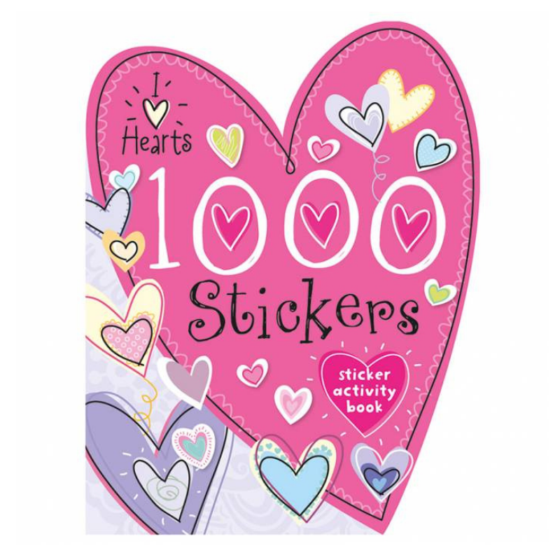 Libro 1000 Stickers I Love Hearts