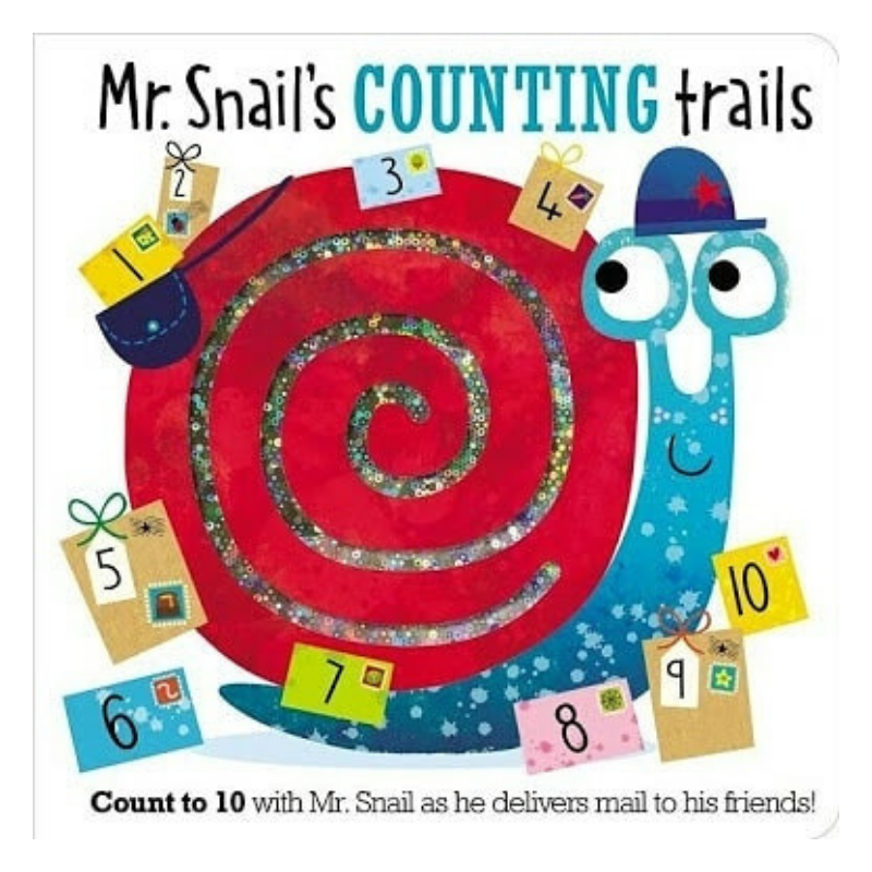 Libro Mr. Snail's Counting Trails - babycentro-com - Make Believe Ideas