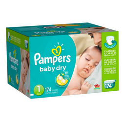 Pampers Baby Dry Pañales Etapa 1 x 174 Unidades - babycentro-com - Pampers