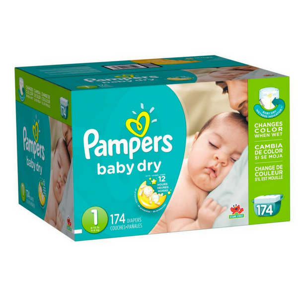 Pampers Baby Dry Pañales Etapa 1 x 174 Unidades