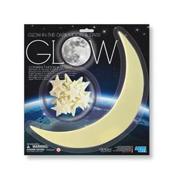 Luna y Estrellas Glow in the Dark 4M