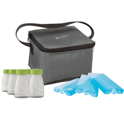 Kit de Transporte de Leche Materna Nevera Cool Bag y Botellas Ardo