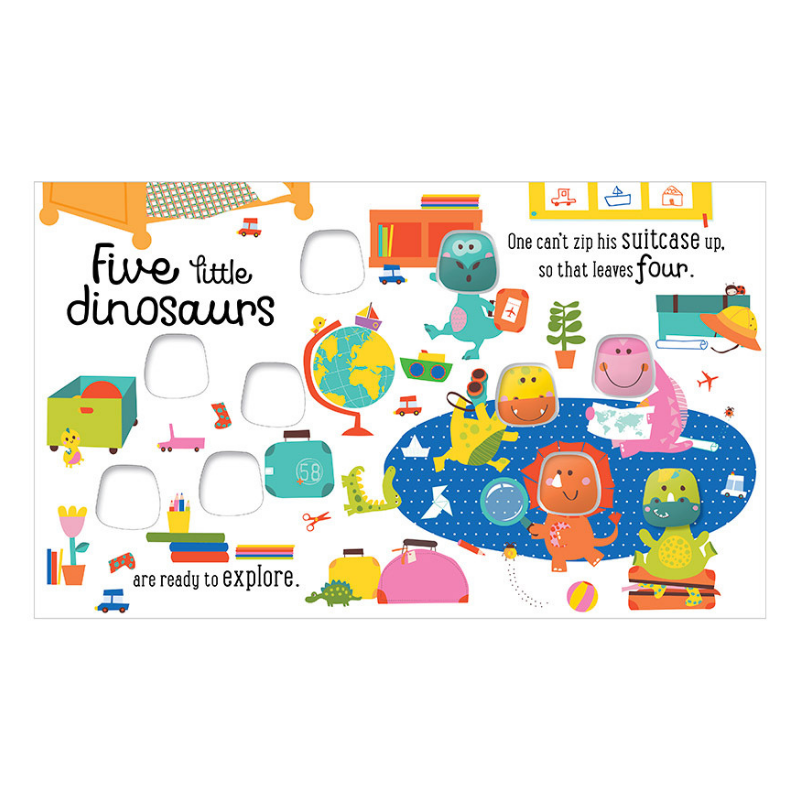 Libro Five Little Dinosaurs - babycentro-com - Make Believe Ideas