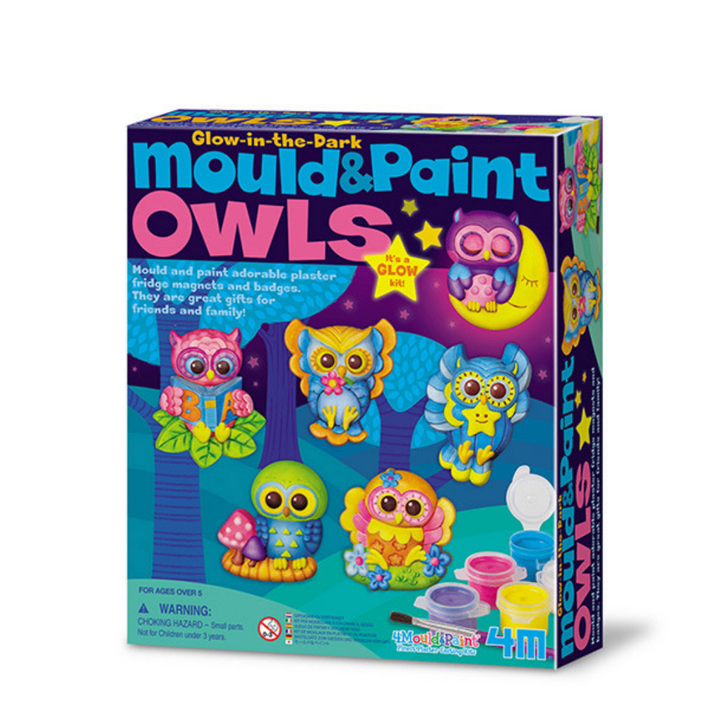 Manualidades Mould & Paint Glow Owls 4M - babycentro-com - 4M