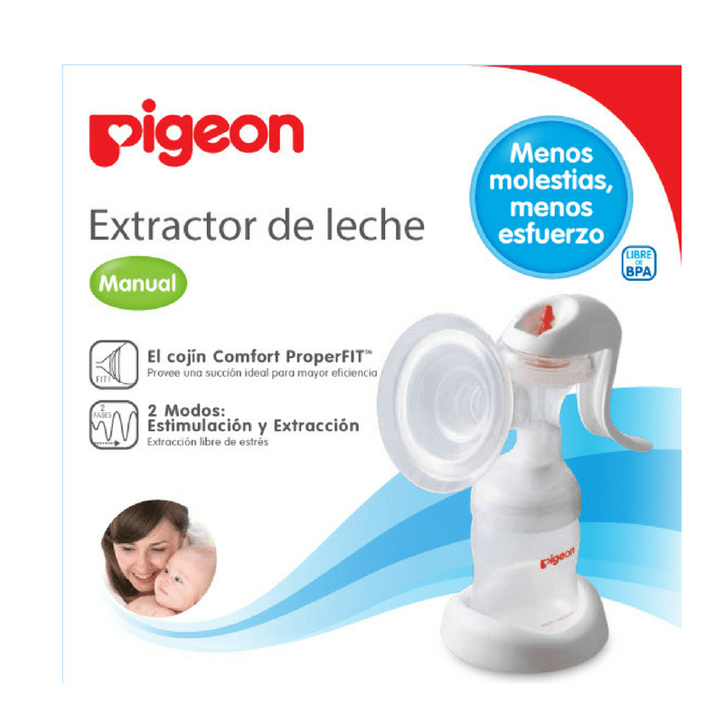 Extractor de Leche Manual 2 Fases Pigeon - babycentro-com - Pigeon