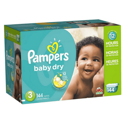Pampers Baby Dry Pañales Etapa 3 x 144 Unidades - babycentro-com - Pampers