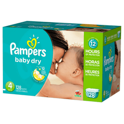 Pampers Baby Dry Pañales Etapa  4  x 128 Unidades - babycentro-com - Pampers