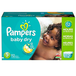 Pampers Baby Dry Pañales Etapa 5 x 112 Unidades-Babycentro.com