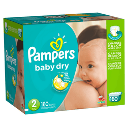 Pampers Baby Dry Pañales Etapa 2 x 160 Unidades - babycentro-com - Pampers