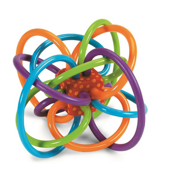 Winkel Rattle and Sensory Teether Manhattan Toy-Babycentro.com