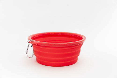 Collapsible Water Bowl - Red