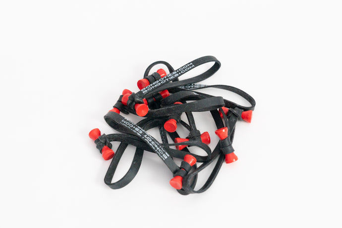 Bongo Ties - Black with Red