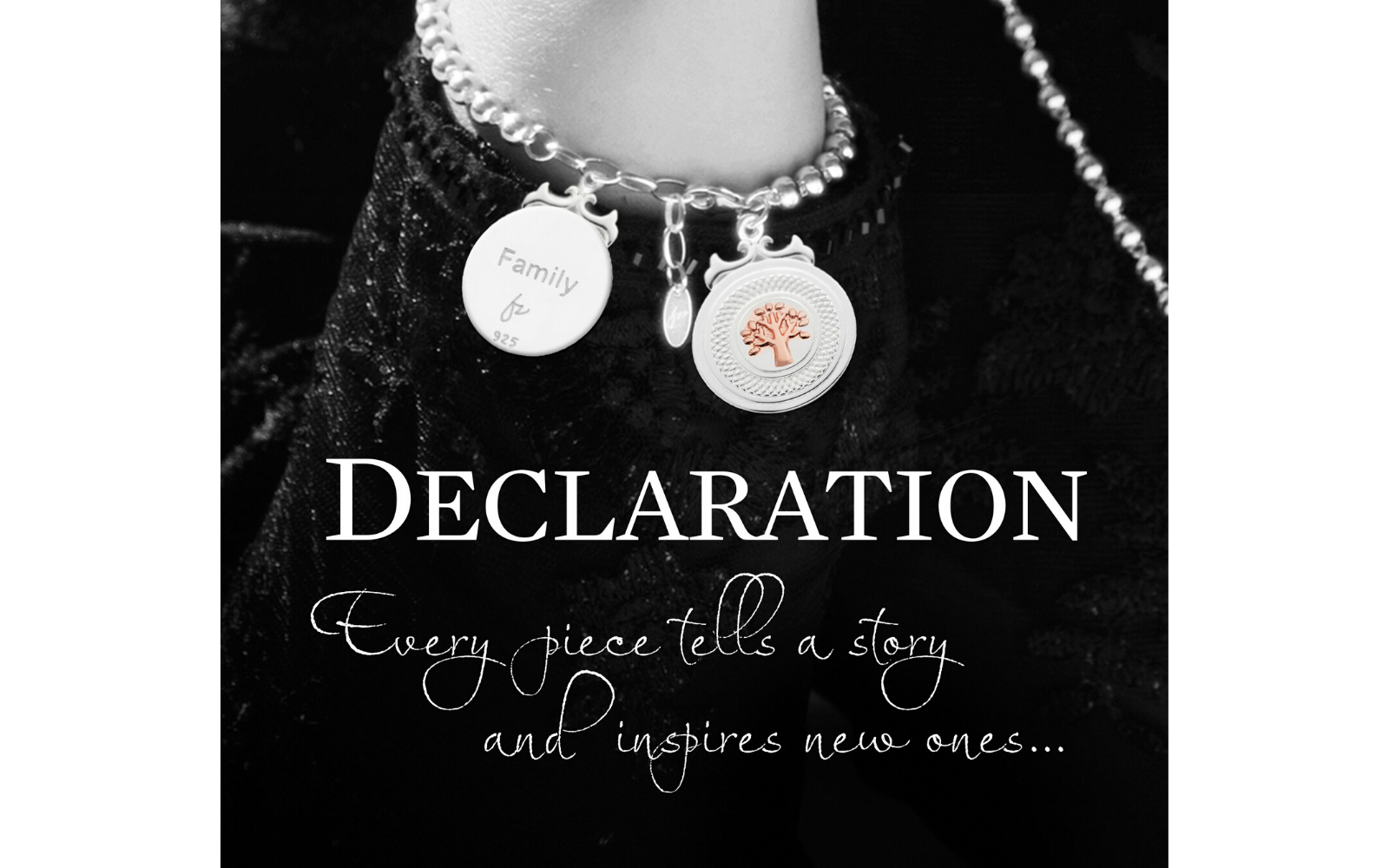 Shop sterling silver and rose gold with declaration.