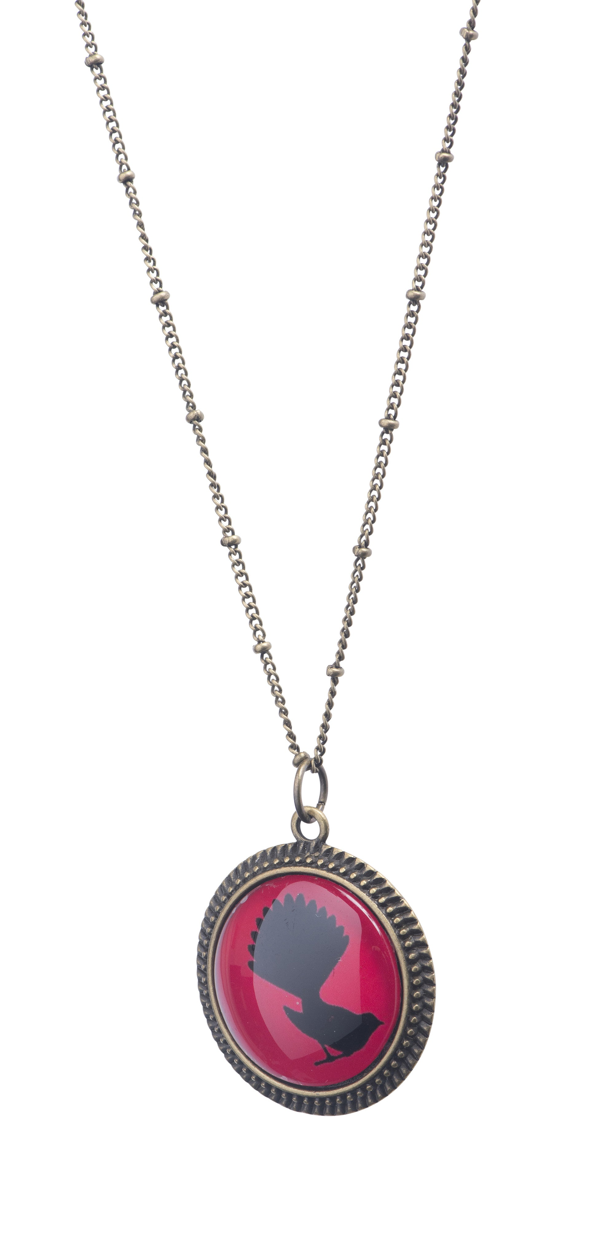 pendant necklace vaults crystal red jasper