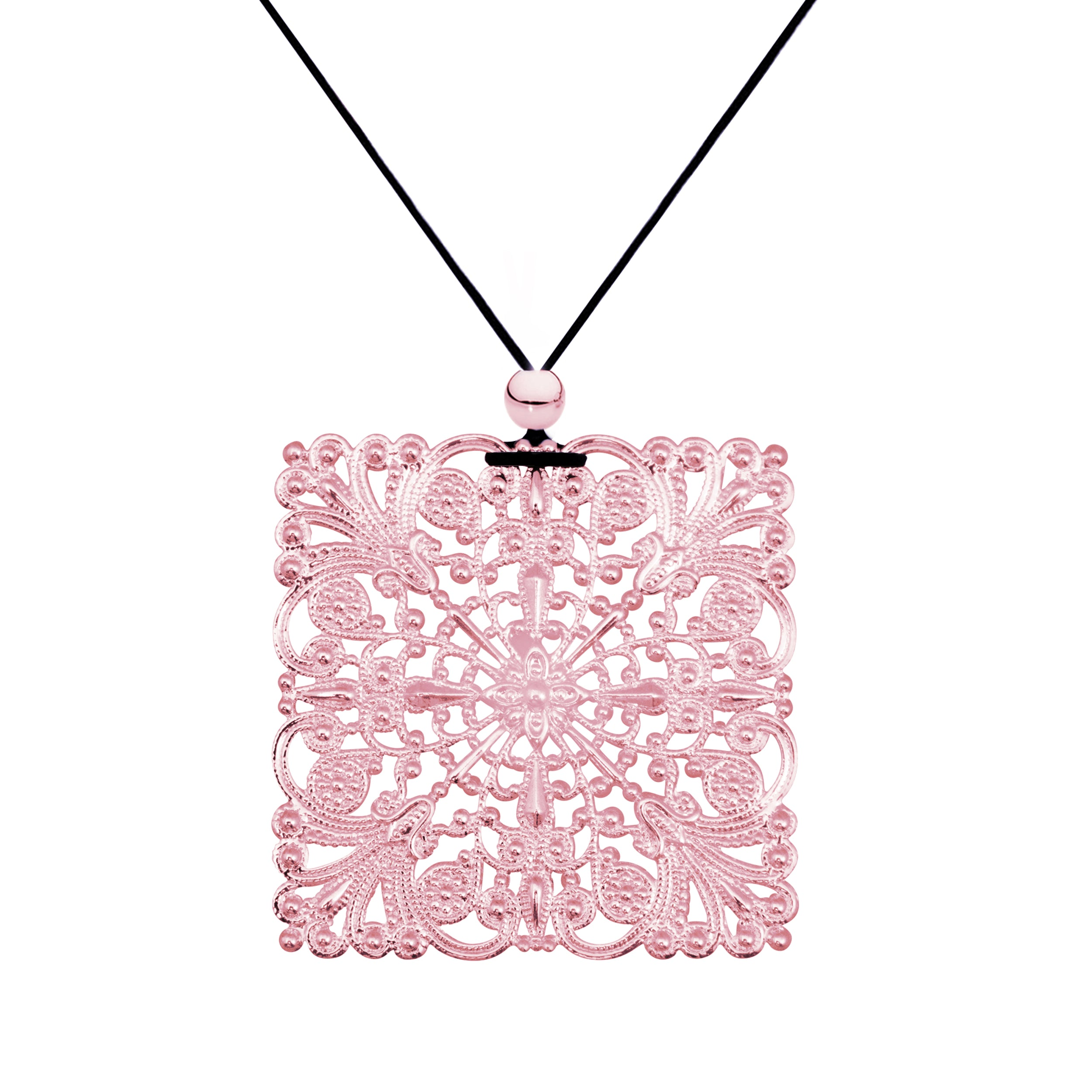 it en rbc oval with pendant necklace rose