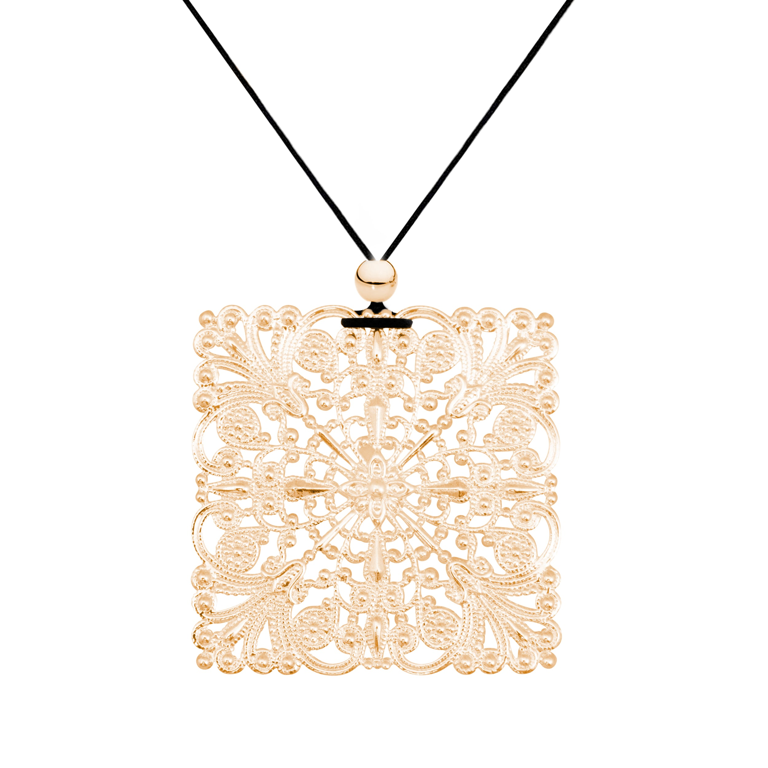 setting gold pendant square zirconia cubic detail product necklace pave