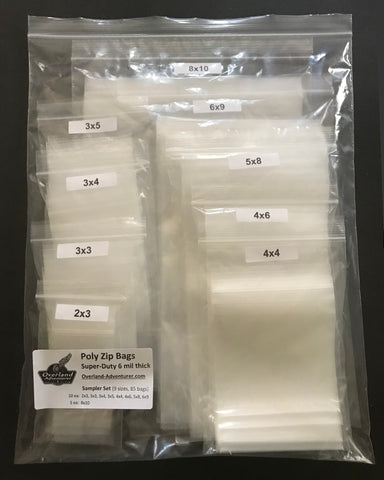 Poly Zip Bags - Super-Duty 6 mil