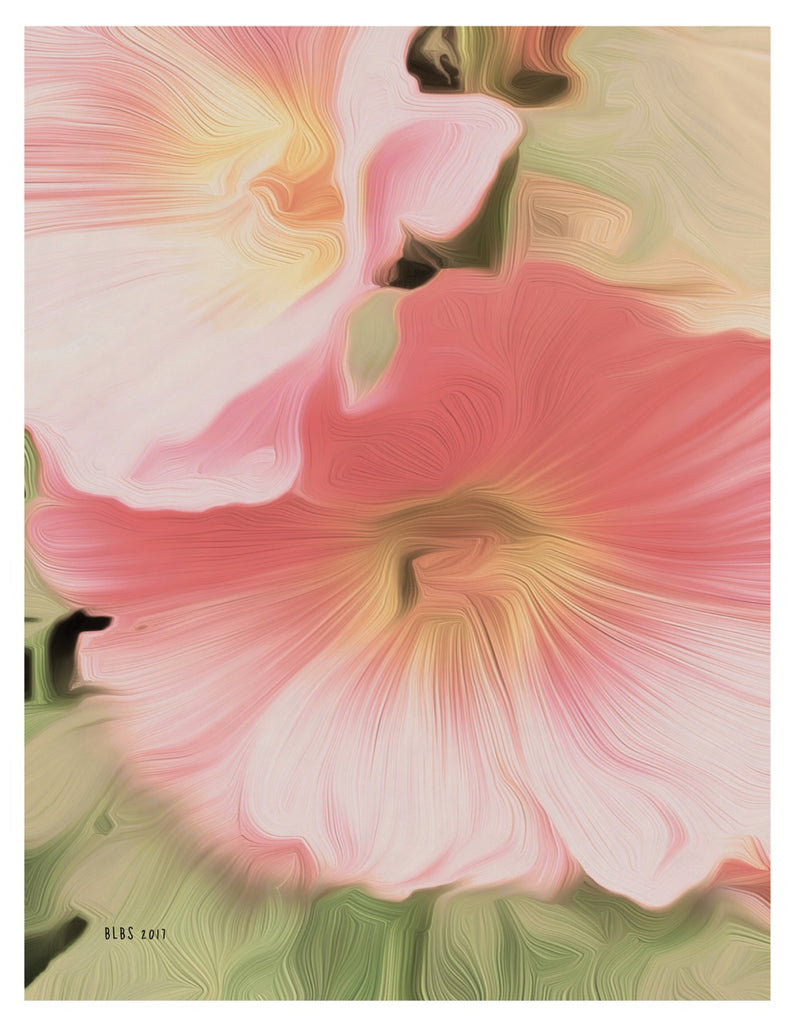 Hollyhocks, After O'Keefe