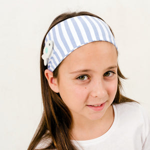 bandeau / headband (bleu) 3 patch