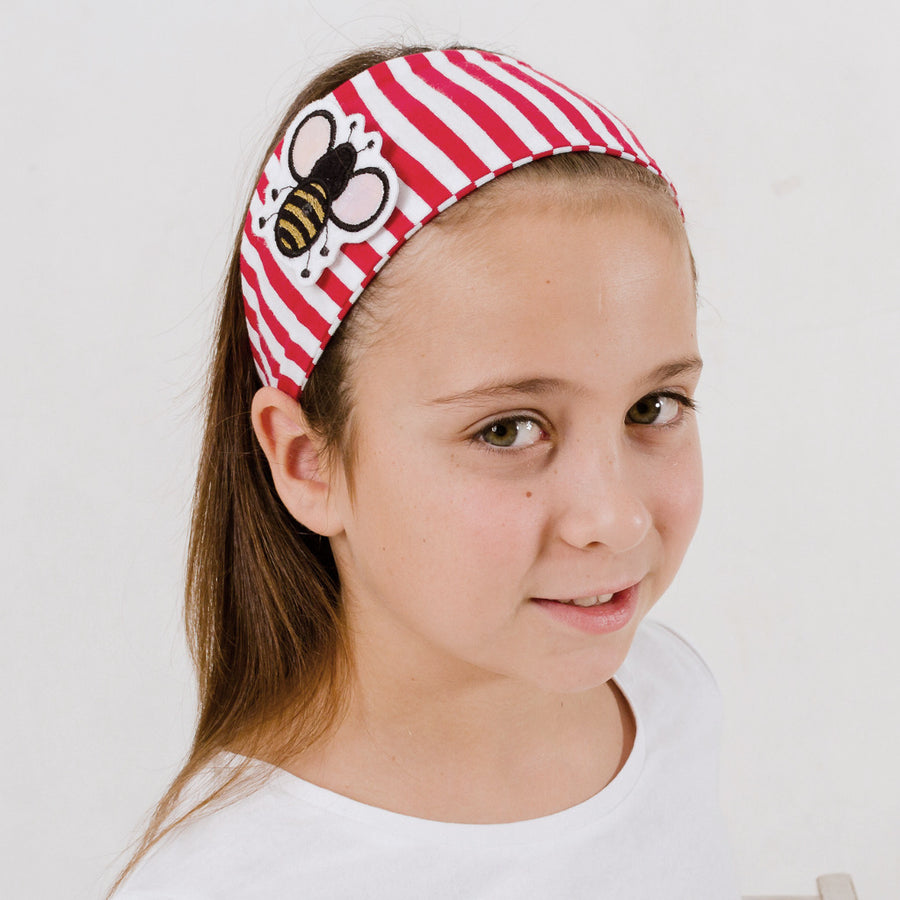 bandeau / headband (rayé rouge) 3 patch