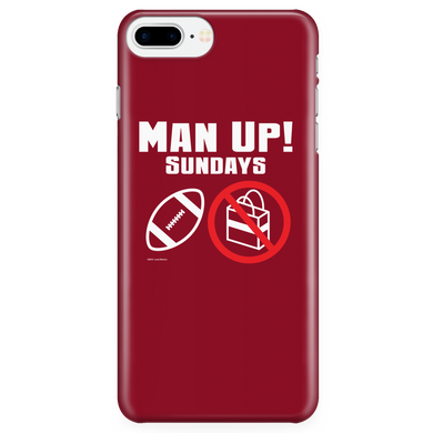 Man Up! Sundays Football, Not Shopping iPhone 7Plus/7sPlus/8Plus Red Case - ManUp!Series
