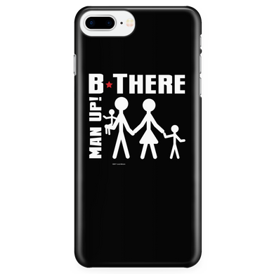 Man Up! B There Man With Family iPhone 7Plus/7sPlus/8Plus Black Case - ManUp!Series