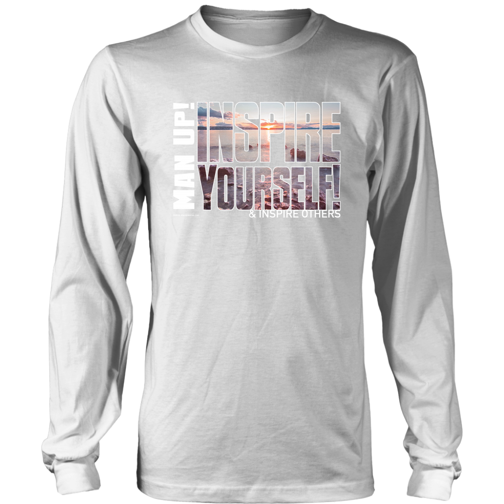 Man Up! Inspire Yourself Men's Long Sleeve - ManUp!Series