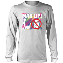 Man Up! Man Peeing Standing Over Colors Men's Long Sleeve - ManUp!Series