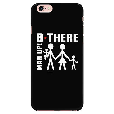 Man Up! B There Man With Family iPhone 7/7s/8 Black Case - ManUp!Series