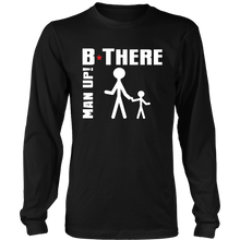 Man Up! B There Man With Child Men's Long Sleeve - ManUp!Series