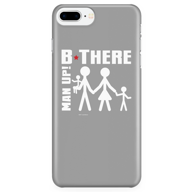 Man Up! B There Man With Family iPhone 7Plus/7sPlus/8Plus Grey Case - ManUp!Series