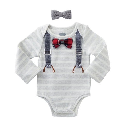Suspender Crawler and Bow Tie Set