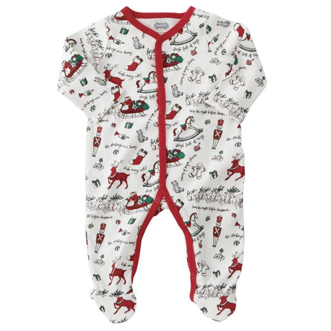 Very Merry Red Trim Pajama Set 6-9Months
