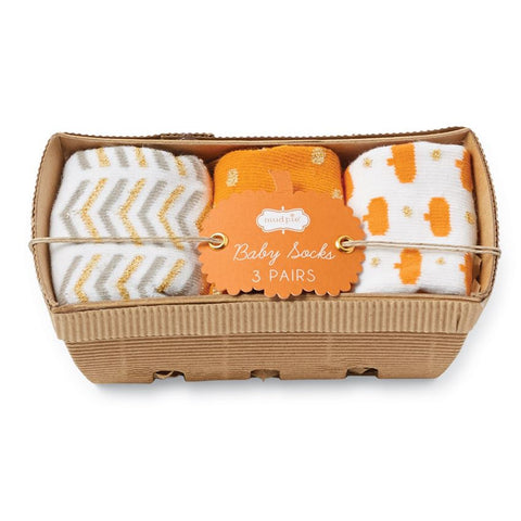 Pumpkin Basket Sock Set