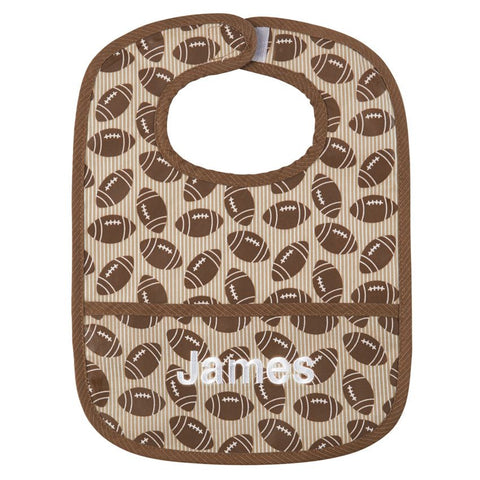Football Wipe Away Bib