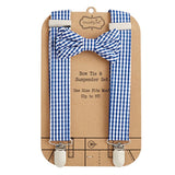 Navy Bow Tie & Suspenders Set