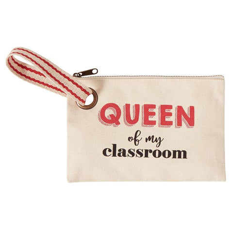 """Queen of my classroom"" Teacher Wristlet"
