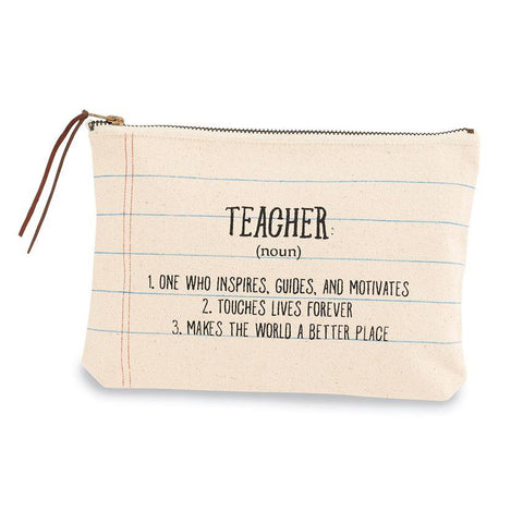 Teacher Canvas Zipper Pouch