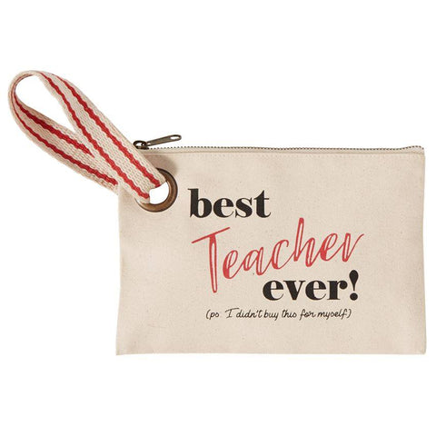 Best Teacher Ever Wristlet