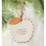 Ceramic Apple Teacher Ornament