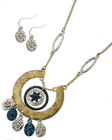 Half Circle Necklace Set